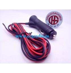 Conector Mechero Con LED y Cable de alimentación de 1.5m 12V 24V