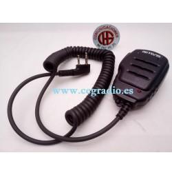 Retevis 2pin Micrófono Altavoz Kenwood Dynascan Baofeng