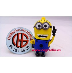 8GB Memoria USB Minion Vista Frontal