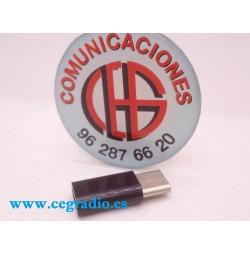 Adaptador Convertidor Micro USB Hembra a Type-C Macho USB 3.1