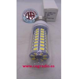 Bombilla cubierta E27, 15W, 72 LED, 5730 SMD Blanco puro 220V