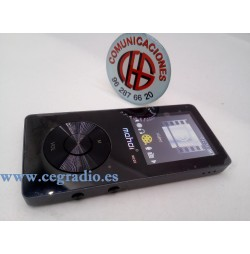 Reproductor MP3 Vídeo Radio FM HIFI Grabadora 8GB Negro