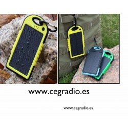 Power Bank Solar Water 5000 mah