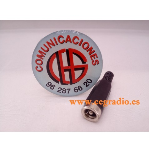 Conector Jack Hembra DC Power 5.5mm x 2.5mm CCTV