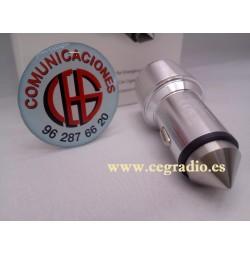 Cargador mechero doble USB metálico Orico