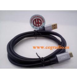 1.5m CRDC Cable USB Type-C carga rápida y datos de nylon