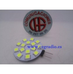 G4 Placa 15 LED 5050 SMD Blanco Puro 12V