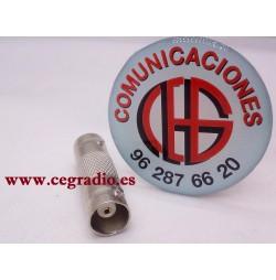 Conector Adaptador BNC Hembra a BNC hembra