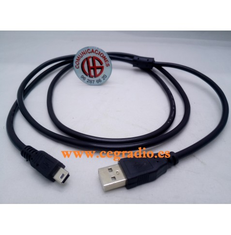 1,5 m Cable de Datos y Carga USB a Mini USB 5 pin