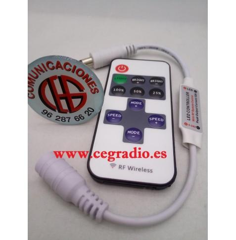 Mando a Distancia DC 12 V 10 teclas para Tira LED SMD 5050 2835 3014 5630