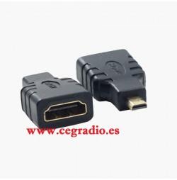 Conector Adaptador HDMI Hembra a Micro HDMI Macho