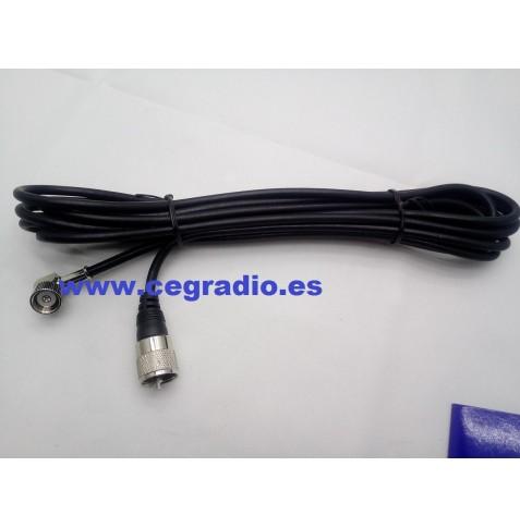 Cable RG58 4m con conector CN y PL259