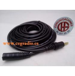 4.5m Cable Audio Alargador Con Conectores 3,5mm Macho a Hembra Chapados en oro
