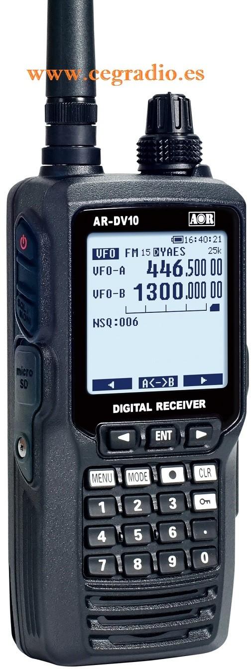 AOR AR-DV-10 Receptor Escaner Digital