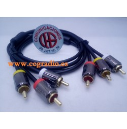 1.5m Dorewin Cable De Audio 3 RCA Macho a 3 RCA Macho