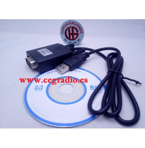 Cable Adaptador Convertidor RS-232 Serie PL2303 A Usb 2.0 Win 7 8