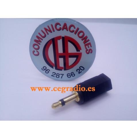Conector Adaptador Jack de 3.5mm Macho Mono a 2.5mm Hembra Estéreo