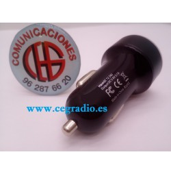 Cargador Rápido Mechero Doble USB 5V 3.1A