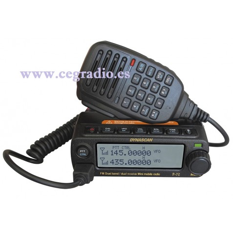 DYNASCAN P-72 Emisora Doble Banda VHF UHF