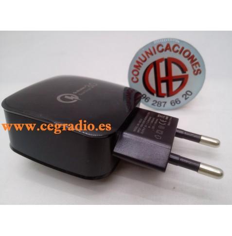 Cargador Rápido Inteligente USB QC 3.0 5V 3A