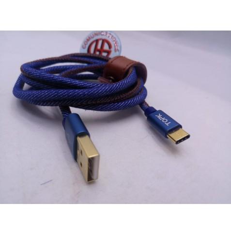 1.20m Cable TOPK USB Carga Datos Tipo C Vista General