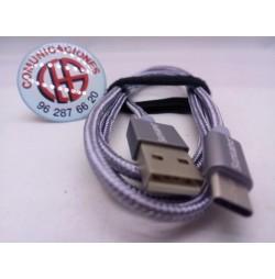 Cable TOPK USB Tipo C de 1.20m