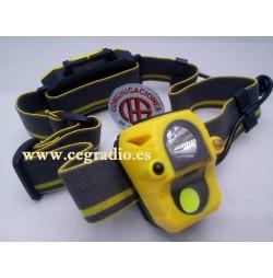 Linterna Cabeza Doble LED XPE + COB Con Sensor Infrarrojo