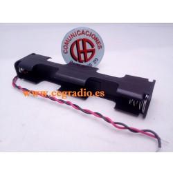 Porta Pilas 4 X AA Caja Larga DC 6V Vista Completa