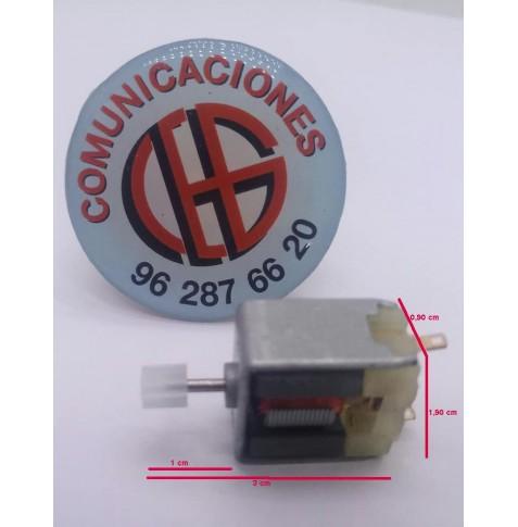 020 Micro Motor Electrico 3V-6V 11.800 a 15.000rpm Vista Horizontal