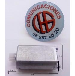 180 Micro Motor DC Electrico 3V-6V 8.700 a 15.200rpm Vista Horizontal