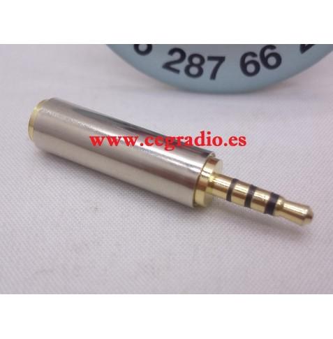 Adaptador Conector jack 3.5mm macho estéreo a 2.5 mm hembra estereo