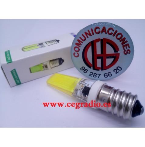 Lámpara LED COB E14 AC 220V 9W Regulable Vista Trasera