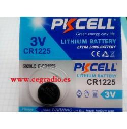 Pila Botón Litio Eunicell CR1225 Vista Blister