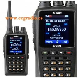 Alinco DJ-MD5E GPS Walkie Bibanda DMR VHF UHF Vista Frontal