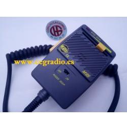 ZETAGI M95 MICROFONO DE MANO PREAMPLIFICADO ROGER BEEP 4 pin Vista Horizontal
