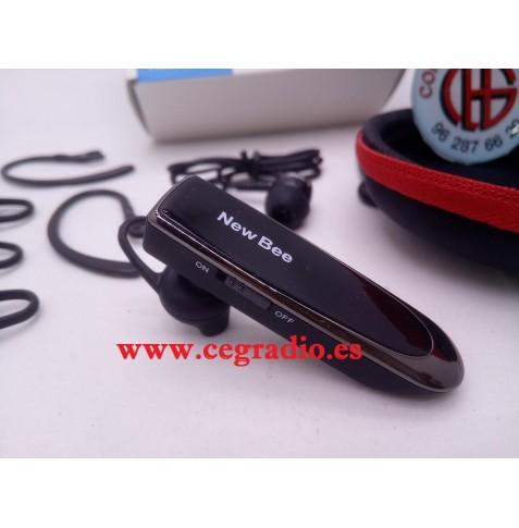 NEW BEE Auriculares Estereo Microfono Inalambrico Bluetooth Vista Lateral