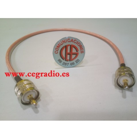 50Cm Cable Baja Perdida RG-142 Latiguillo PL259 UHF Macho a Macho Vista General