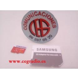 SAMSUNG EVO Plus tarjeta de memoria Micro SD 32GB Vista Completa