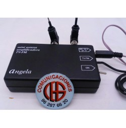 Mini Antena Amplificada TV-UHF-FM