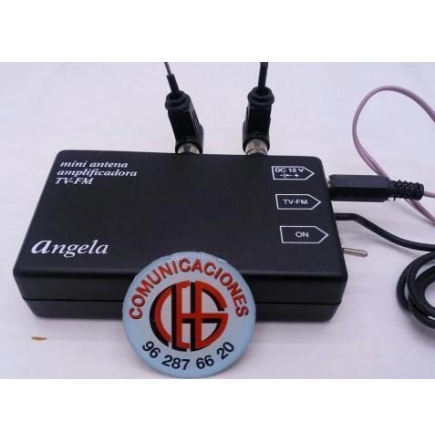 Mini Antena Amplificada TV-UHF-FM