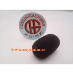 Funda Esponja Microfono Negra Adonis Sadelta 30mm x 8mm Vista Lateral