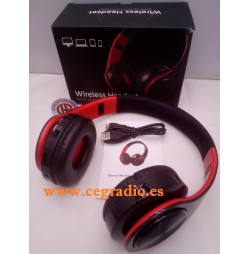 B7 Auriculares Inalámbricos Microfono Bluetooth Plegable PC Mp3 Vista General