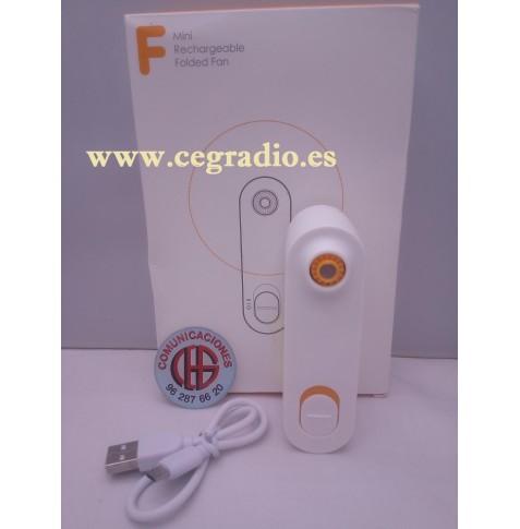Mini Ventilador Portatil Enfriador Recargable Micro USB Vista General