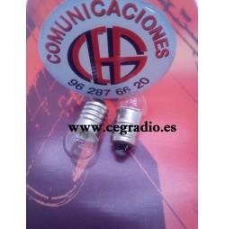 E10 3,8 V 0.3A Mini Bombilla Lampara Pequeña Linterna Experimentacion Vista Aerea