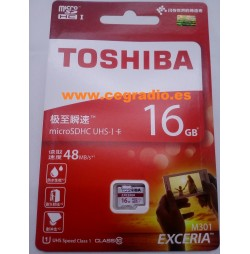 TOSHIBA Micro SDHC UHS-I 16GB Class 10