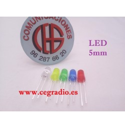 Diodo Led 5 mm amarillo