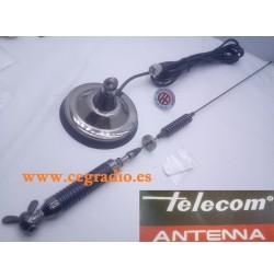 TELECOM ALL-RIGHT1 ANTENA MOVIL 27Mhz CB CON BASE MAGNETICA TIPO PALOMILLA Vista Diagonal
