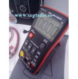 RM408B Multimetro Digital 8000 cuentas True-RMS Temperatura Frecuencia Capacidad Vista Completa