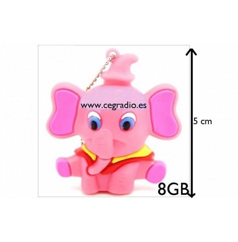 Memoria USB 8GB Elefantita
