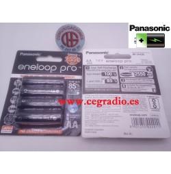 Panasonic Eneloop Pro AA 2550mAh 1,2 V Recargable NI-MH Vista Blister